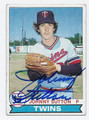 JOHNNY SUTTON MINNESOTA TWINS AUTOGRAPHED VINTAGE ROOKIE BASEBALL CARD #31016B