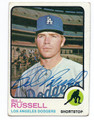 BILL RUSSELL LOS ANGELES DODGERS AUTOGRAPHED VINTAGE BASEBALL CARD #31216E