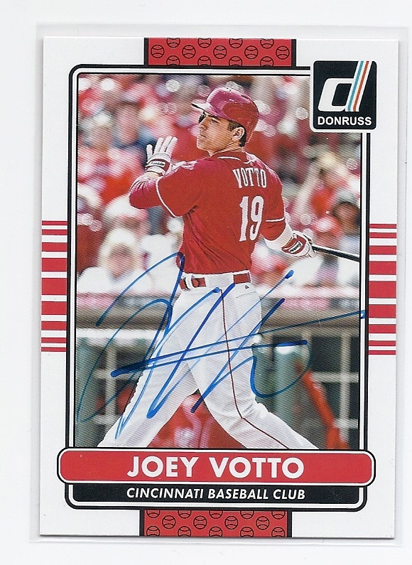 Joey Votto Cincinnati Reds Autographed Baseball Card 31316b