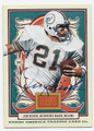 JIM KIICK MIAMI DOLPHINS AUTOGRAPHED FOOTBALL CARD #31416D