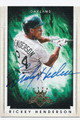 RICKEY HENDERSON OAKLAND ATHLETICS AUTOGRAPHED BASEBALL CARD #31416E