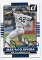 MARIANO RIVERA NEW YORK YANKEES AUTOGRAPHED BASEBALL CARD #31416G
