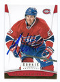 MAX PACIORETTY MONTREAL CANADIENS AUTOGRAPHED HOCKEY CARD #31516A