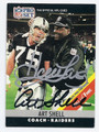 HOWIE LONG & ART SHEL LOS ANGELES RAIDERS DOUBLE AUTOGRAPHED FOOTBALL CARD #31516F