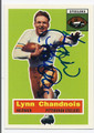 LYNN CHANDNOIS PITTSBURGH STEELERS AUTOGRAPHED FOOTBALL CARD #31516H