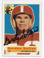 GORDON SOLTAU SAN FRANCISCO 49ers AUTOGRAPHED FOOTBALL CARD #31616B