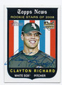 CLAYTON RICHARD CHICAGO WHITE SOX AUTOGRAPHED ROOKIE BASEBALL CARD #31616C