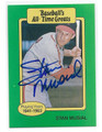 STAN MUSIAL ST LOUIS CARDINALS AUTOGRAPHED VINTAGE BASEBALL CARD #31816A