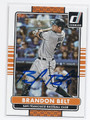 BRANDON BELT SAN FRANCISCO GIANTS AUTOGRAPHED BASEBALL CARD #31816C