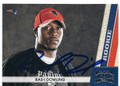RASI-I DOWLING NEW ENGLAND PATRIOTS AUTOGRAPHED ROOKIE FOOTBALL CARD #31816H