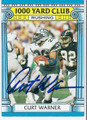 CURT WARNER SEATTLE SEAHAWKS AUTOGRAPHED VINTAGE FOOTBALL CARD #31916F