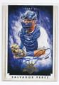 SALVADOR PEREZ KANSAS CITY ROYALS AUTOGRAPHED BASEBALL CARD #31916G