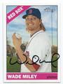 WADE MILEY BOSTON RED SOX AUTOGRAPHED BASEBALL CARD #32016B