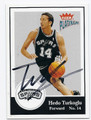 HEDO TURKOGLU SAN ANTONIO SPURS AUTOGRAPHED BASKETBALL CARD #32016C