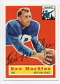 KEN MacAFEE NEW YORK GIANTS AUTOGRAPHED FOOTBALL CARD #32116C