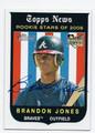 BRANDON JONES ATLANTA BRAVES AUTOGRAPHED ROOKIE BASEBALL CARD #32116F