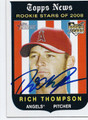 RICH THOMPSON LOS ANGELES ANGELS OF ANAHEIM AUTOGRAPHED ROOKIE BASEBALL CARD #32216A