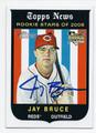 JAY BRUCE CINCINNATI REDS AUTOGRAPHED ROOKIE BASEBALL CARD #32216G