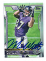 MAXX WILLIAMS BALTIMORE RAVENS AUTOGRAPHED ROOKIE FOOTBALL CARD #32516G
