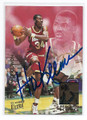 HAKEEM OLAJUWON HOUSTON ROCKETS AUTOGRAPHED BASKETBALL CARD #32516H