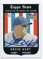 KEVIN HART CHICAGO CUBS AUTOGRAPHED ROOKIE BASEBALL CARD #32616C