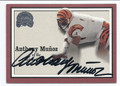 ANTHONY MUNOZ CINCINNATI BENGALS AUTOGRAPHED FOOTBALL CARD #32816E