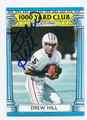 DREW HILL HOUSTON OILERS AUTOGRAPHED VINTAGE FOOTBALL CARD #32916C
