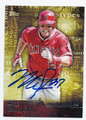MIKE TROUT LOS ANGELES ANGELS OF ANAHEIM AUTOGRAPHED BASEBALL CARD #32916G