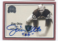 JIM OTTO OAKLAND RAIDERS AUTOGRAPHED FOOTBALL CARD #33016D