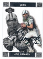 JOE NAMATH NEW YORK JETS AUTOGRAPHED FOOTBALL CARD #40216B