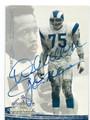 DEACON JONES LOS ANGELES RAMS AUTOGRAPHED FOOTBALL CARD #40316B