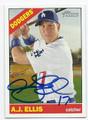 AJ ELLIS LOS ANGELES DODGERS AUTOGRAPHED BASEBALL CARD #40316C