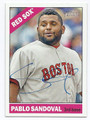 PABLO SANDOVAL BOSTON RED SOX AUTOGRAPHED BASEBALL CARD #40316F
