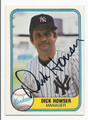 DICKHOWSER NEW YORK YANKEES AUTOGRAPHED VINTAGE BASEBALL CARD #40716D