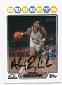 ALEX ENGLISH DENVER NUGGETS AUTOGRAPHED BASKETBALL CARD #40916E