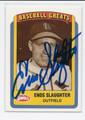 ENOS SLAUGHTER ST LOUIS CARDINALS AUTOGRAPHED VINTAGE BASEBALL CARD #41016B