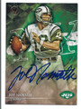 JOE NAMATH NEW YORK JETS AUTOGRAPHED FOOTBALL CARD #41116F