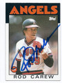 ROD CAREW CALIFORNIA ANGELS AUTOGRAPHED VINTAGE BASEBALL CARD #41816E