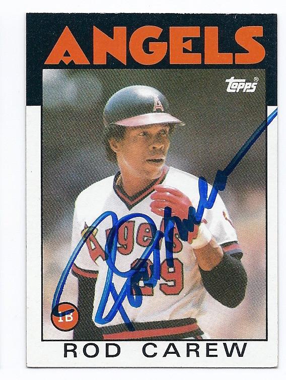 Rod Carew California Angels Autographed Vintage Baseball Card 41816e
