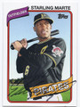 STARLING MARTE PITTSBURGH PIRATES AUTOGRAPHED BASEBALL CARD #41816G