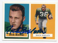 DICK BIELSKI PHILADELPHIA EAGLES AUTOGRAPHED FOOTBALL CARD #42216A