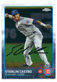 STARLIN CASTRO CHICAGO CUBS AUTOGRAPHED BASEBALL CARD #42216B