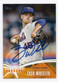 ZACK WHEELER NEW YORK METS AUTOGRAPHED BASEBALL CARD #42216H