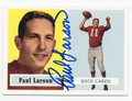 PAUL LARSON CHICAGO CARDINALS AUTOGRAPHED FOOTBALL CARD #42316C