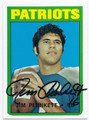 JIM PLUNKETT NEW ENGLAND PATRIOTS AUTOGRAPHED FOOTBALL CARD #42316H