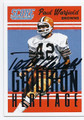 PAUL WARFIELD CLEVELAND BROWNS AUTOGRAPHED FOOTBALL CARD #42616G