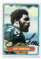 JOE GREENE PITTSBURGH STEELERS AUTOGRAPHED VINTAGE FOOTBALL CARD #42816F