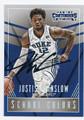 JUSTISE WINSLOW DUKE UNIVERSITY BLUE DEVILS AUTOGRAPHED ROOKIE BASKETBALL CARD #42916E