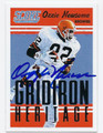 OZZIE NEWSOME CLEVELAND BROWNS AUTOGRAPHED FOOTBALL CARD #43016A