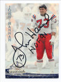 JOHN HANNAH NEW ENGLAND PATRIOTS AUTOGRAPHED FOOTBALL CARD #50216C